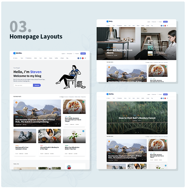 Stories - Personal Blog HTML Template - 3