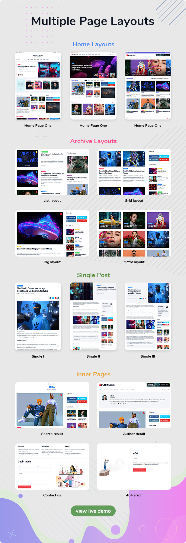 Ultranews - Magazine Bootstrap 4 Template